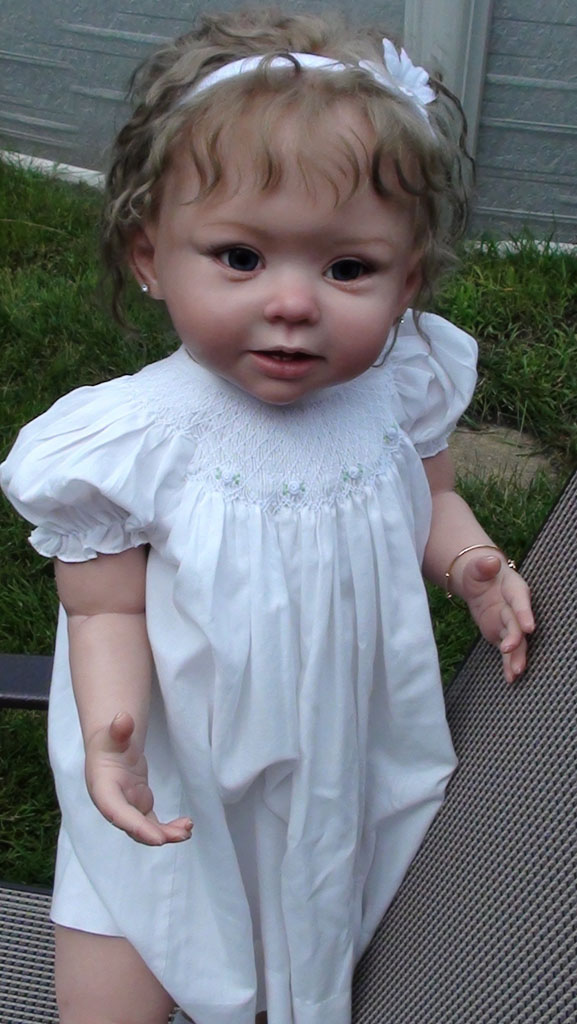 Details about reborn bonnie toddler doll baby girl by linda murray